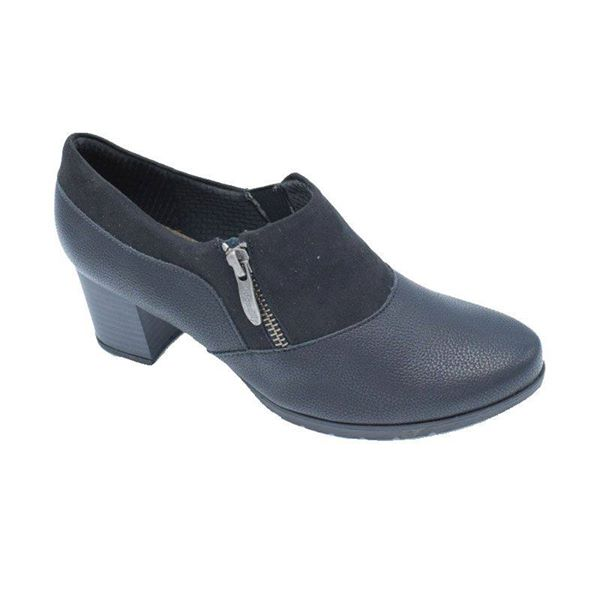 MEDICAHELLAS - Γυναικεία Μαύρα Ανατομικά Παπούτσια Piccadilly